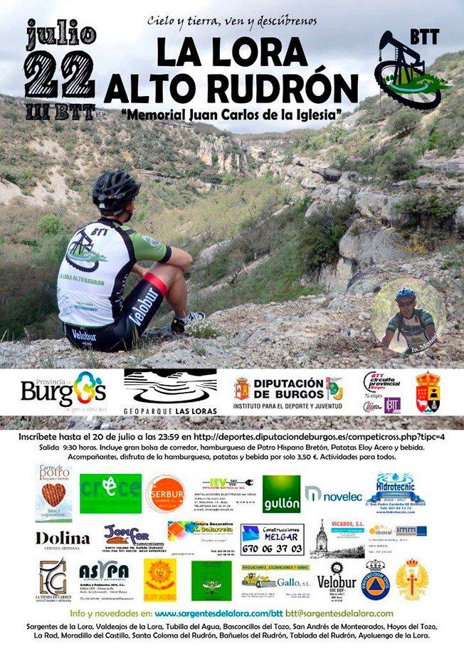 Cartel II Carrera BTT La Lora Alto Rudrón