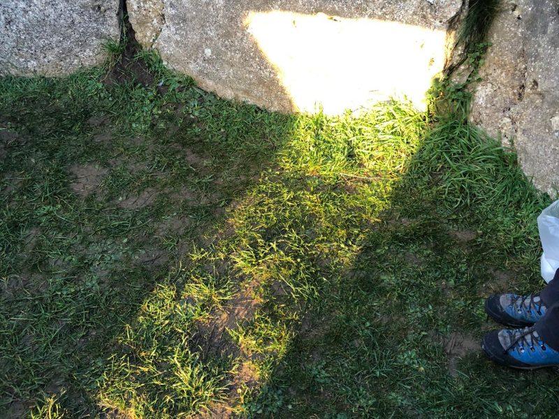Efecto solar solsticio en el Dolmen de la Cabaña