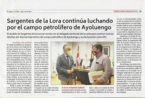 Noticia sobre el campo de Ayoluengo
